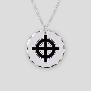 Celtic Cross Square Necklace Circle Charm