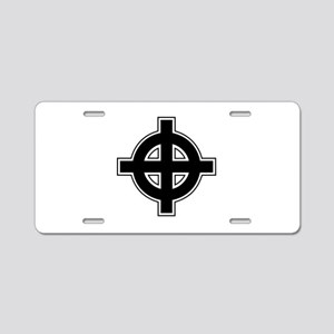 Celtic Cross Square Aluminum License Plate