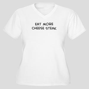 Eat more Cheese Steak Women's Plus Size V-Neck T-S