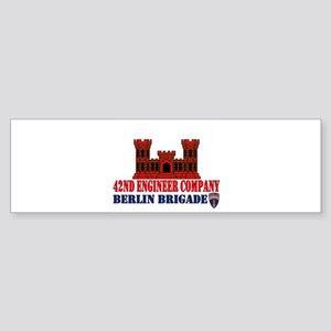 42Eng_10x10_red4 Bumper Sticker