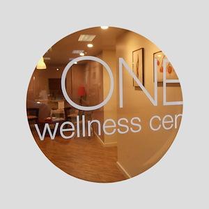 "One Wellness sign 3.5"" Button"