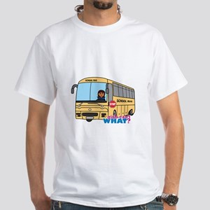 School Bus Driver Dark White T-Shirt