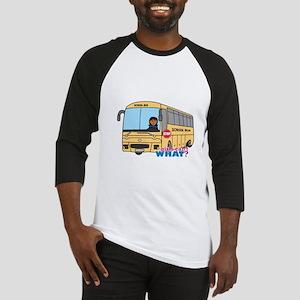 School Bus Driver Dark Baseball Jersey