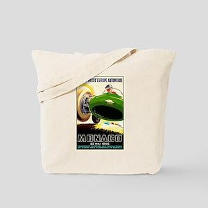 Vintage 1955 Monaco Grand Prix Race Poster Tote Ba