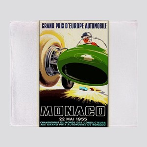 Vintage 1955 Monaco Grand Prix Race Poster Throw B