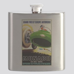 Vintage 1955 Monaco Grand Prix Race Poster Flask