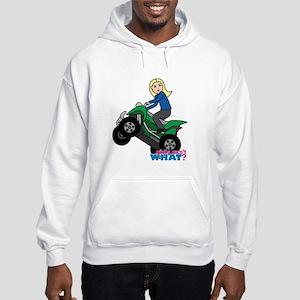 ATV Woman Blonde Hooded Sweatshirt