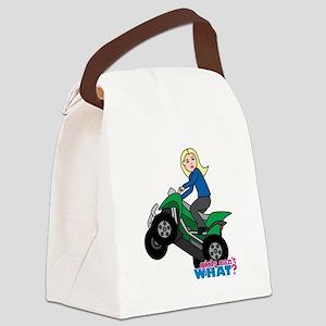 ATV Woman Blonde Canvas Lunch Bag