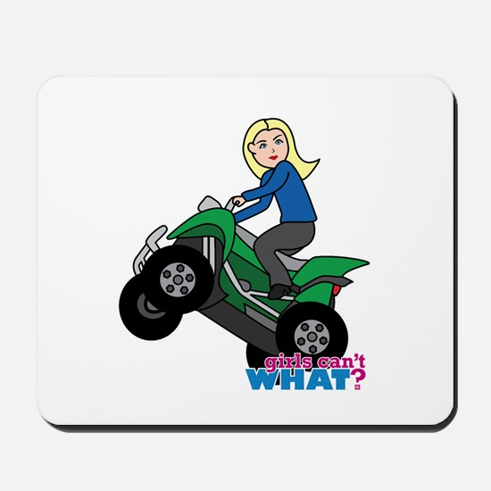 ATV Woman Blonde Mousepad