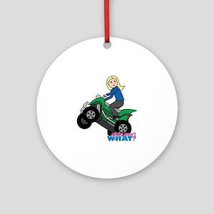 ATV Woman Blonde Ornament (Round)