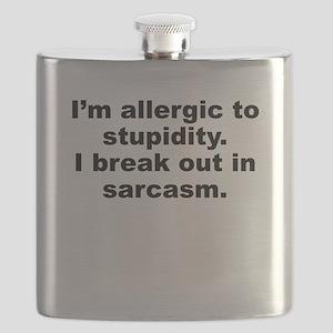 Allergic To Stupidity Flask