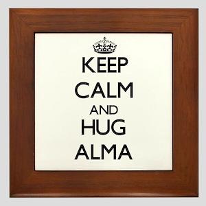 Keep Calm and HUG Alma Framed Tile