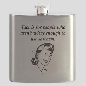 Tact And Sarcasm Flask
