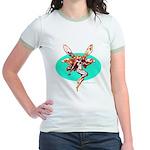 Fire Fairy Women's Pink Ringer T-Shirt