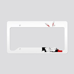 Follow The White Rabbit License Plate Holder