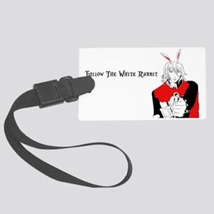 Follow The White Rabbit Large Luggage Tag