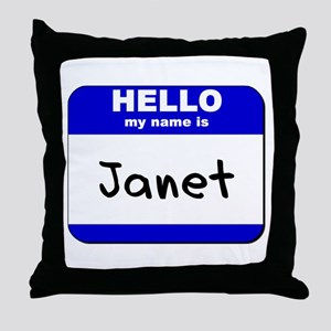 hello my name is janet  Throw Pillow