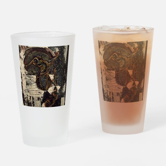 Seahorse Drinking Glass