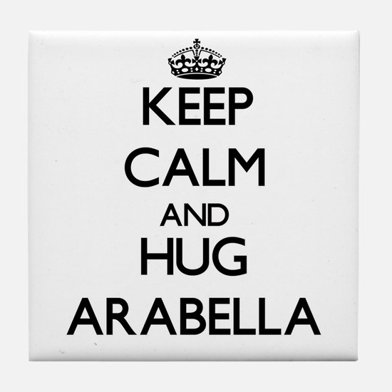 Keep Calm and HUG Arabella Tile Coaster