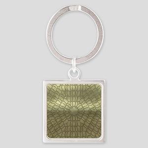 metal art kaleido golden Keychains