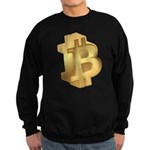 Gold Bitcoin Symbol Sweatshirt