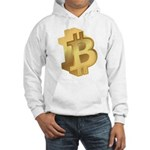 Gold Bitcoin Symbol Hoodie