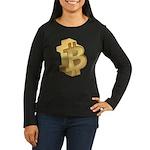 Gold Bitcoin Symbol Long Sleeve T-Shirt