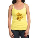 Gold Bitcoin Symbol Tank Top