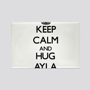 Keep Calm and HUG Ayla Magnets