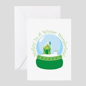 Walkin In A Winter Wonderland Greeting Cards
