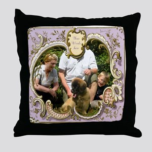 Personalizable Art Nouveau Frame Throw Pillow