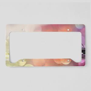 Sparkling Pink Santa Monica P License Plate Holder