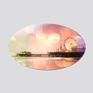 Sparkling Pink Santa Monica 20x12 Oval Wall Decal
