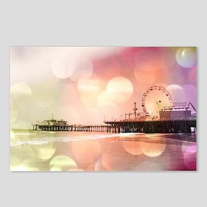 Sparkling Pink Santa Moni Postcards (Package of 8)