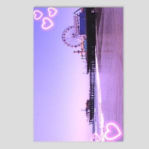 Santa Monica Pier Purple Postcards (Package of 8)