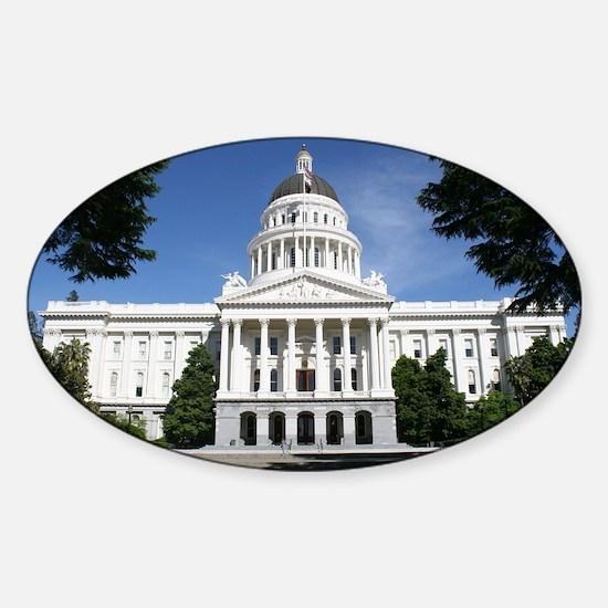 Capitol in Sacramento Sticker (Oval)