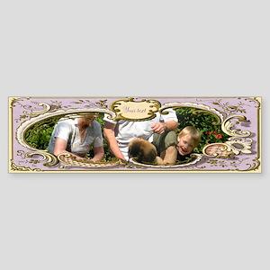 Personalizable Art Nouveau Frame Sticker (Bumper)