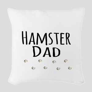Hamster Dad Woven Throw Pillow