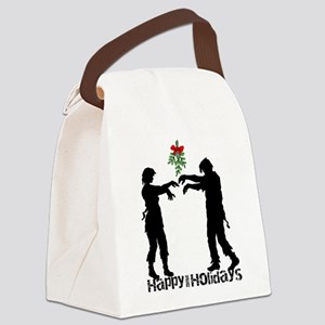 Happy Zombie Holiday Canvas Lunch Bag