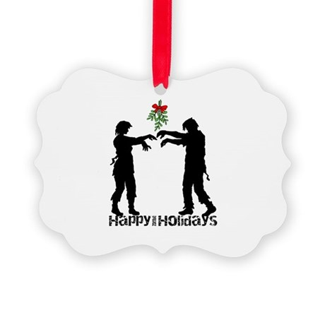 Happy Zombie Holiday Picture Ornament by HarveysPlace1