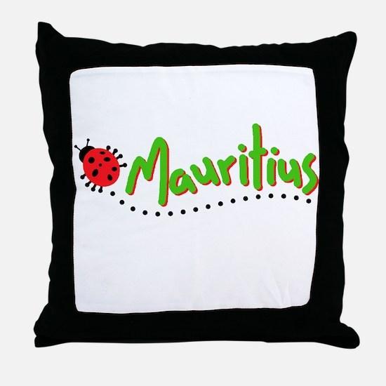 mauritius cochineal Throw Pillow