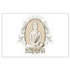 Elegant Buddha in Meditation Large Poster
