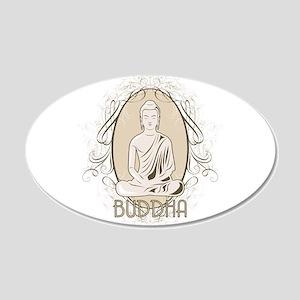 Elegant Buddha in Meditation 20x12 Oval Wall Decal