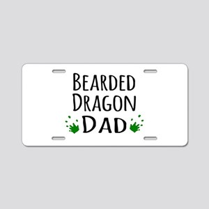 Bearded Dragon Dad Aluminum License Plate