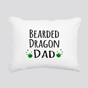 Bearded Dragon Dad Rectangular Canvas Pillow