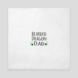 Bearded Dragon Dad Queen Duvet