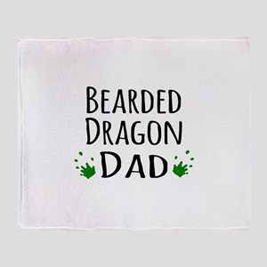 Bearded Dragon Dad Throw Blanket