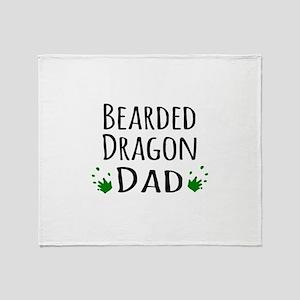 Bearded Dragon Dad Throw Blanket