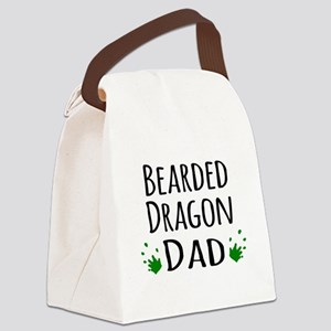 Bearded Dragon Dad Canvas Lunch Bag