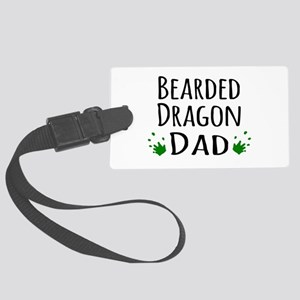 Bearded Dragon Dad Large Luggage Tag